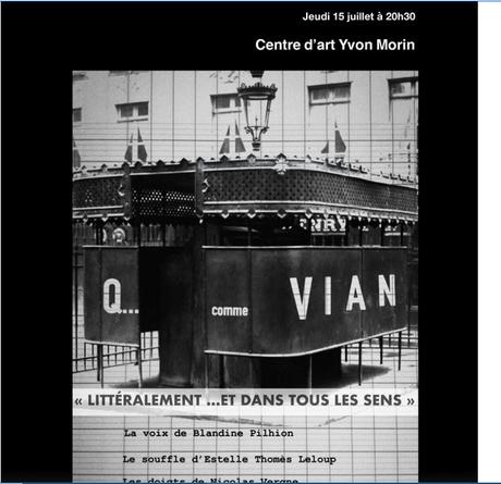 Le Centre d'Art Yvon Morin – le 15 Juillet 2021  et tout l'été…