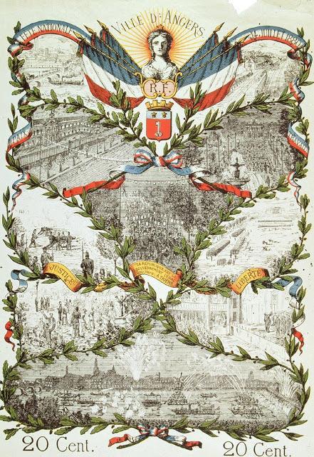 Bonne fête nationale à tous mes amis français — Le 14 juillet 1880 à Angers