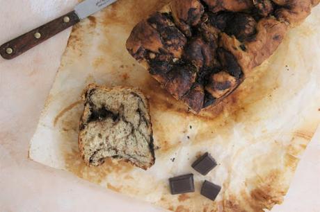 Brioche marbrée à la pâte à tartiner (vegan)
