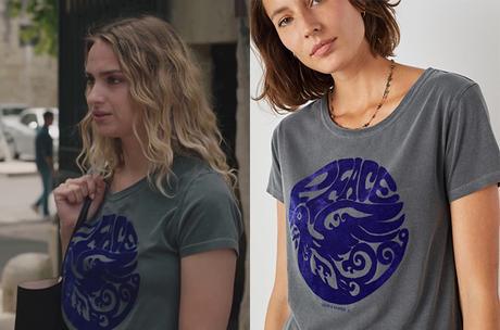 """ICI TOUT COMMENCE : le t-shirt """"Peace"""" de Salomé dans l'épisode 186"""