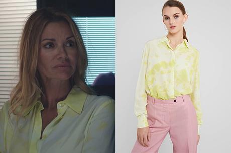 DEMAIN NOUS APPARTIENT : la blouse tie dye jaune de Chloé dans l'épisode 971