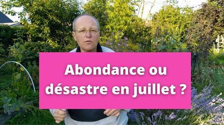 Abondance ou désastre en juillet dans le jardin en permaculture (vidéo)