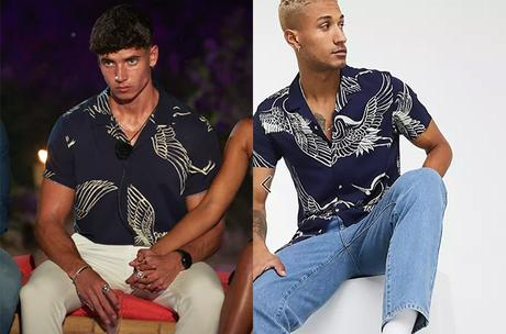 TOO HOT TO HANDLE : Cam's birds print navy shirt in S2E10