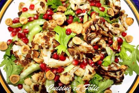 Chou-fleur rôti et salade aux noisettes de Yotam Ottolenghi