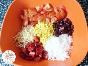 Salade aux haricots rouges