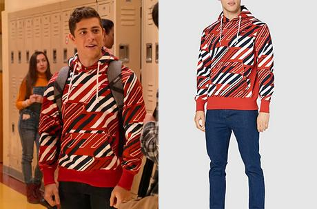 NEVER HAVE I EVER : Ben's graphic hoodie  in S2E02