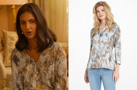 NEVER HAVE I EVER : Nalini Vishwakumar's blouse with a great color palette in S2E02