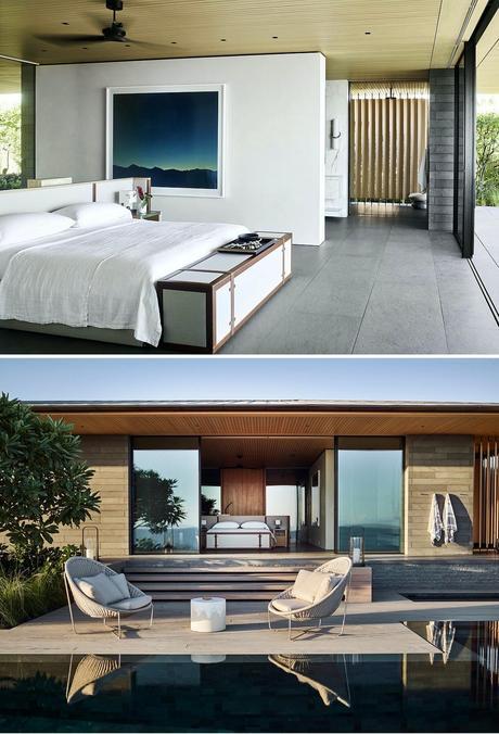 suite parentale villa Kua Bay ouverte terrasse piscine privée
