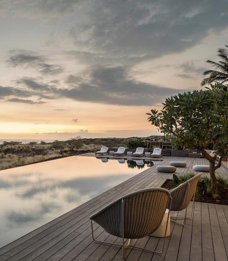 villa Kua Bay piscine débordement vue océan