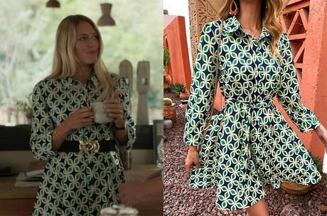 UN SI GRAND SOLEIL : la robe à motifs géométriques de Johanna dans l'épisode 694