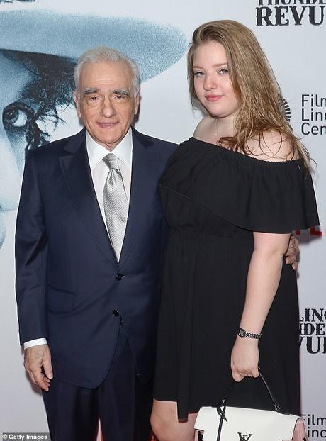 Papa: Francesca, 21 ans, est la fille du réalisateur avec sa cinquième épouse Helen Morris qu'il a épousée en 1999 photographiée à New York en juin 2019)