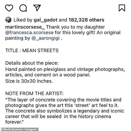 Art significatif: Scorsese a partagé les détails de la pièce de l'artiste new-yorkais Aaron Gigi