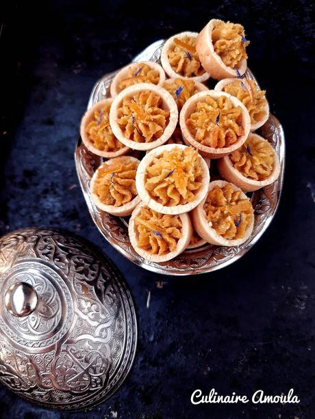 Minis tartelettes oranges-amandes