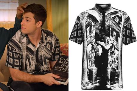 NEVER HAVE I EVER : Ben's Museum print shirt in S2E08