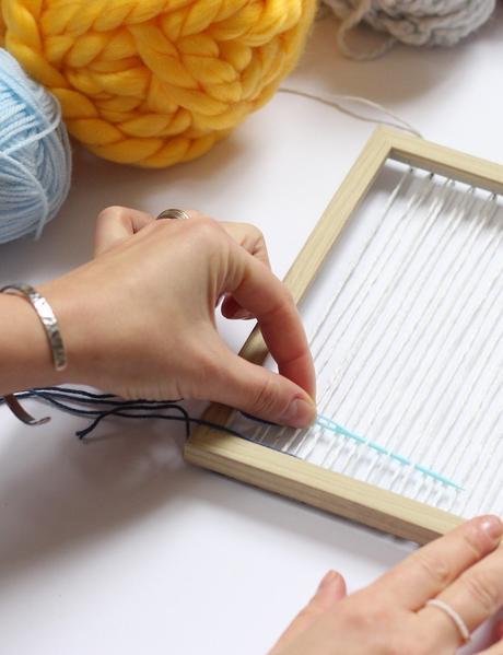 technique facile tissage fait-main cadre à tisser