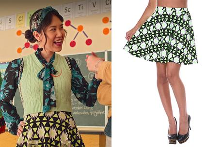 Never have I ever : Eleanor's Triangle Printed Fit and Flare Skirt in S2E6
