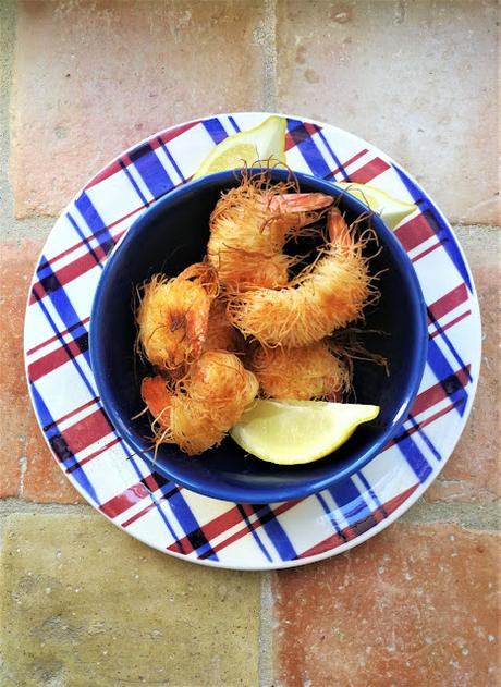 Crevettes au Kadaïf