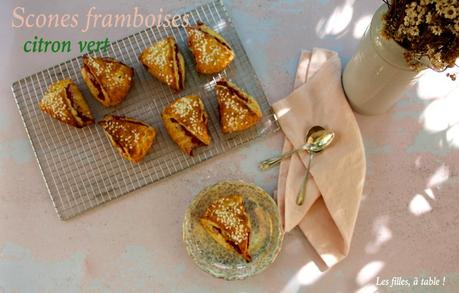 Scones aux framboises et citron vert