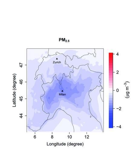 Au fur et à mesure que les émissions d'oxydes d'azote sont réduites, les réactions chimiques des gaz organiques contre les oxydants atmosphériques augmentent, ce qui favorise légèrement la formation de nouvelles particules organiques (Visuel Environmental Sciences : Atmosphere)