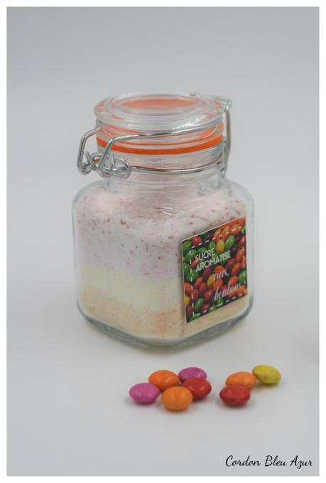 Sucre aromatisé aux bonbons