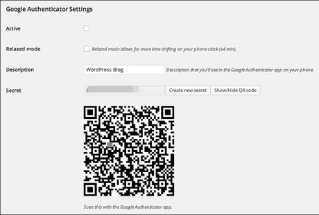 Plugin WordPress Google Authenticator