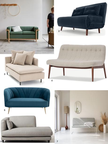 canapé petit salon design moderne lin velours