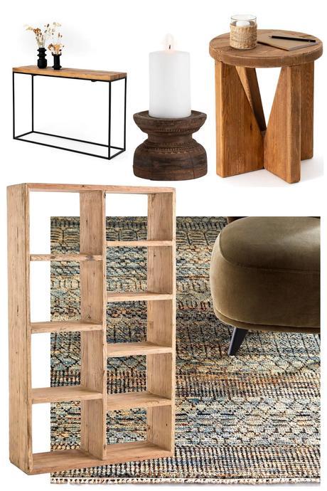 meuble bois massif pin orme - blog déco - clem atc
