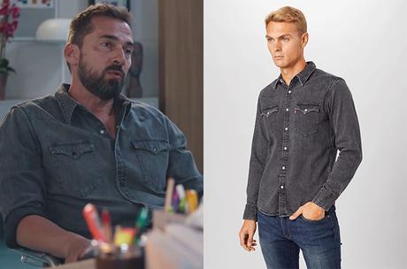 DEMAIN NOUS APPARTIENT : la chemise en  jean de Martin dans l'épisode 978