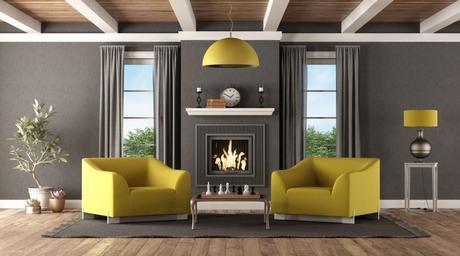 objet décoration cheminée moderne