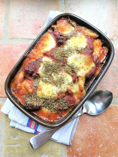Gratin de courgettes à la sauce tomate