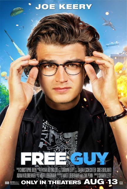 Affiches personnages US pour Free Guy de Shawn Levy