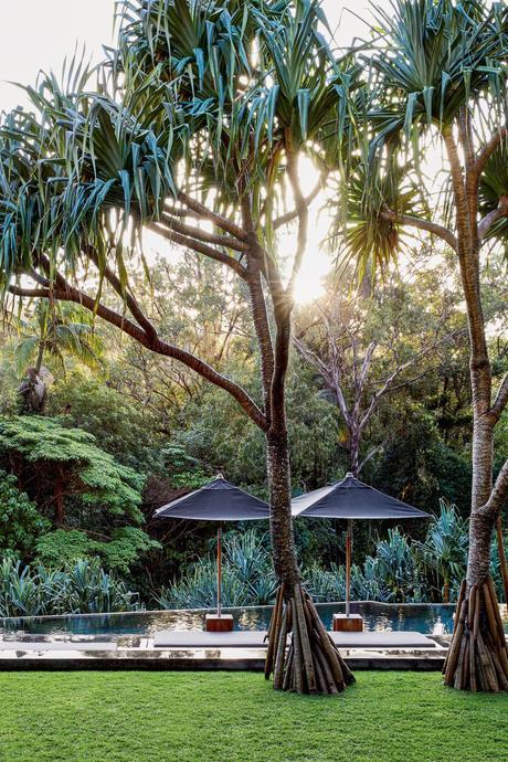 jardin tropical piscine débordement inspiration Bali Indonésie