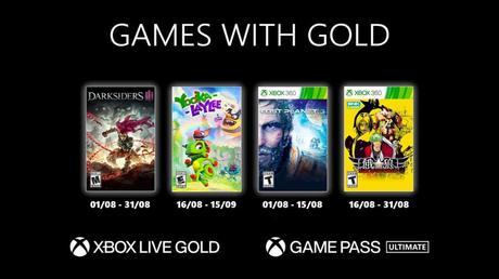 Games With Gold de août 2021 dévoilés!