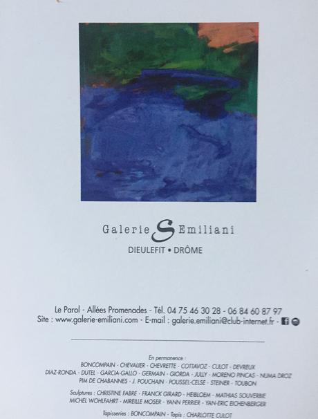 Galerie –  S.   Emiliani à Dieulefit en Drôme Provençale. exposition A . Chevrette jusqu'au 29 Août 2021 -Au 1er étage  YaNn Perrier .