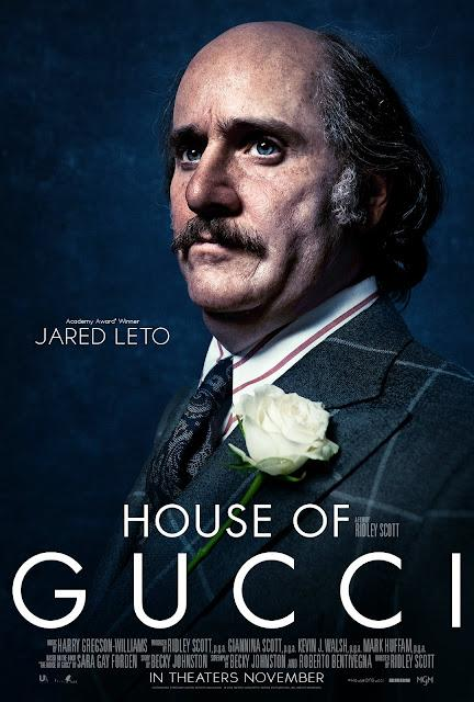 Affiches personnages US pour House of Gucci de Ridley Scott