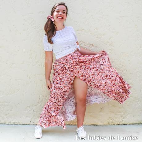 Coudre une jupe longue élastiquée : Carmen de Mouna Sew