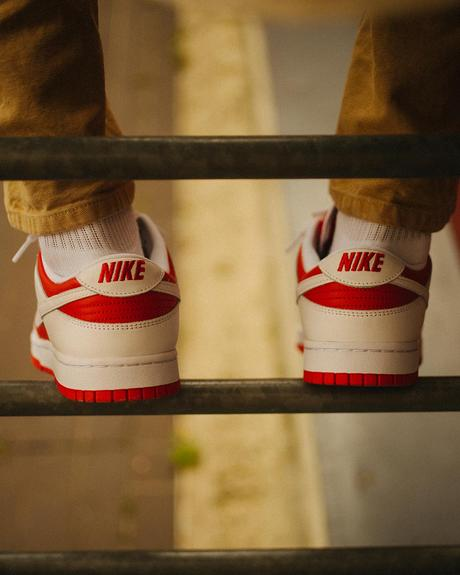 La Nike Dunk Low White University Red drop demain
