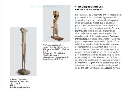 Institut Giacometti « Giacometti et l'Egypte antique …. jusqu'au 10/10/2021