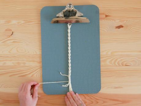 comment finir tissage corde macramé création déco blog