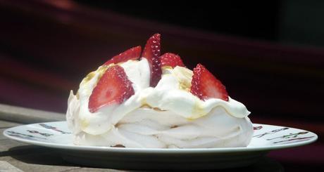 les desserts en rouge et blanc