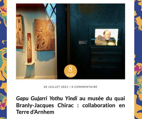 Gapu Guḻarri Yothu Yindi au musée du quai Branly-Jacques Chirac : sous l'oeil des Casoars