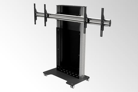 Audipack VCF-SL : un trolley double écran pour la visioconférence et la téléprésence