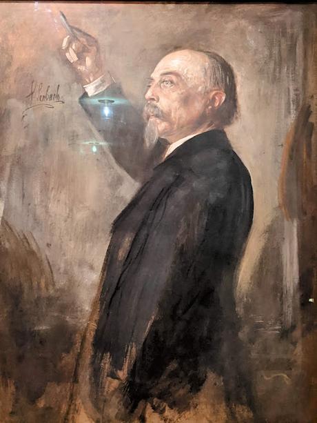 National Theater München — Hans von Bülow — v. Lenbach pinx.