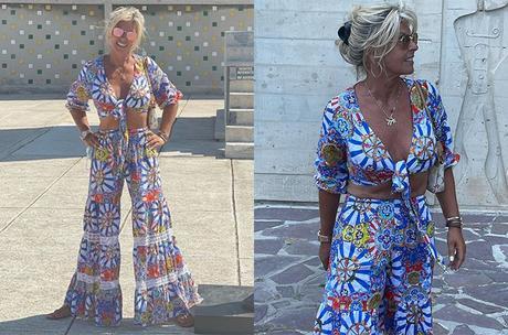 VACANCES : les tenues solaires de Caroline Margeridon embrasent les réseaux