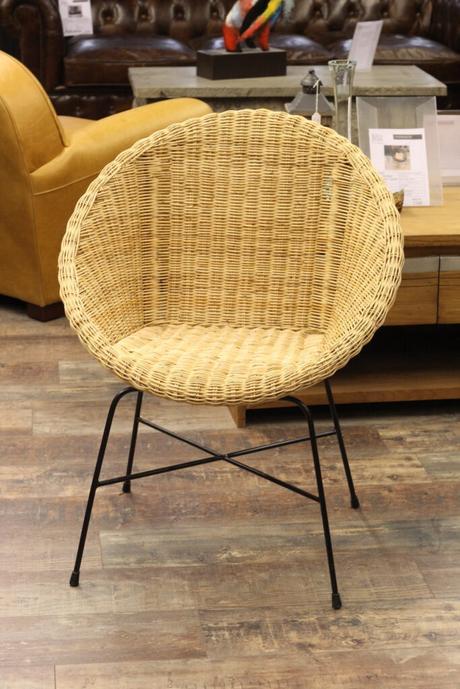 fauteuil osier table estivale bohème déco pied noir fer