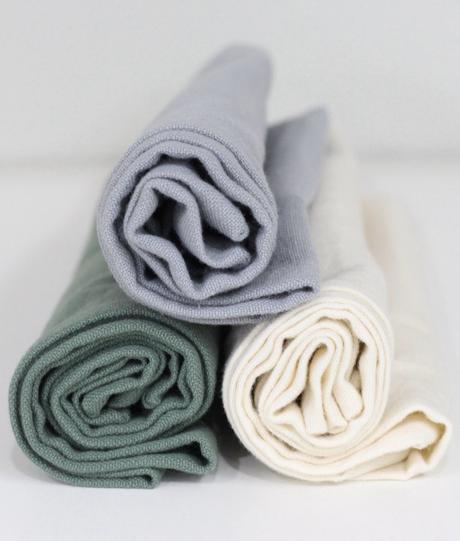 table estivale serviette en coton doux lin mélange vert eau céladon gris