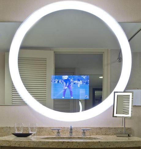 miroir rond intelligent video écran tv