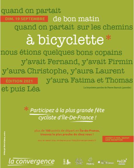 Affiche Convergence Vélo 2021