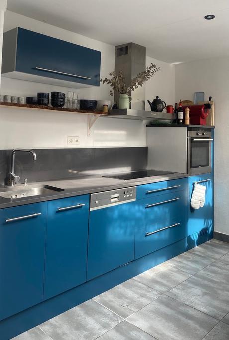 Renov cuisine peinture multi-surfaces bleu thai Syntilor