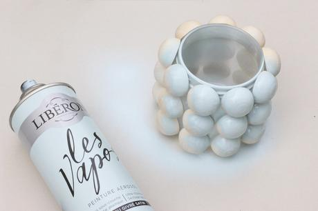 personnaliser objet bocaux verre peinture aérosol